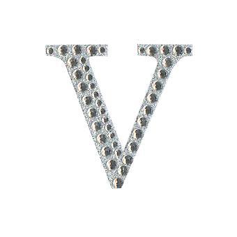 5cm Klar Selvklebende Diamante Bokstaver - V | Diamante Edelstener Utsmykninger