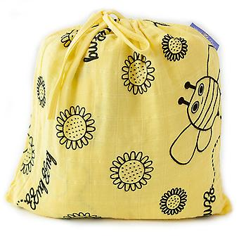 Milk&Moo Buzzy Bee Baby Swaddle Blanket, Oeko Tex Certified 100%Cotton, Muslin Swaddle Blankets, Ultra Soft, Breathable, Lightweight, Set of 2 Muslin Blanket for Boys and Girls