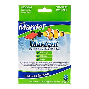 مارديل Maracyn المضادة للبكتيريا حوض السمك الدواء - مسحوق - 8 عدد - (8 × 0.021 أوقية مسحوق الحزم)