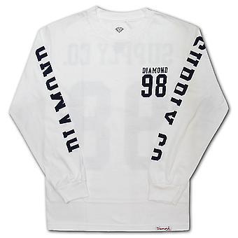 Diamond Supply Co Nine Eight LS T-shirt White