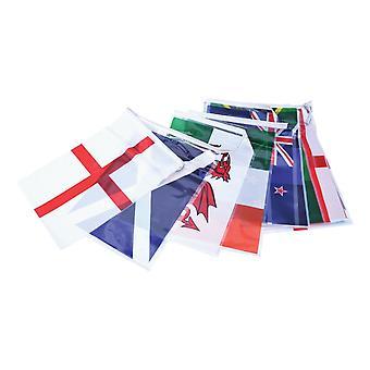 الاتحاد جاك ارتداء كأس العالم للرجبي Bunting 7m 25 أعلام البلاد