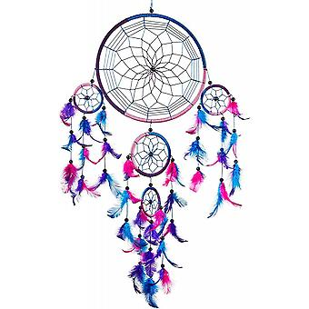 Indoor Home Crafts Decoration Wall-mounted Car Feather Pendant Blue