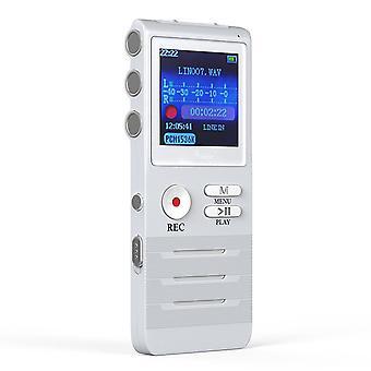 Cyfrowy głos Aktywowany Rejestrator Przez Dictopro- Easy Hd Nagrywanie wykładów i spotkań z podwójnym mikrofonem, Noise Reduction Audio, Sound, Portabl