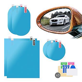 6pcs Hd Nano Film de protection contre la pluie pour fenêtre de voiture miroir d'aile