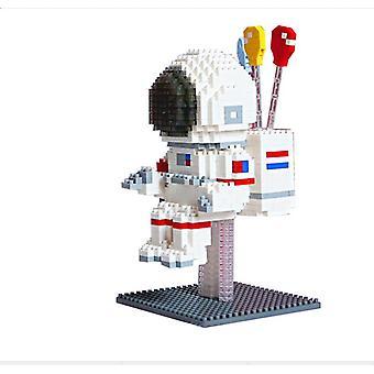 Astronaut Concrete Block  For Creative Play Building Block Sets