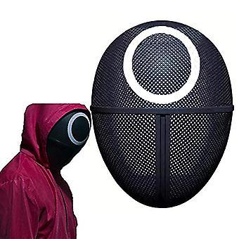 Masked Man Squid Game Resin Mask 2021 Tv Cosplay Masquerade Akcesoria Halloween Rekwizyty