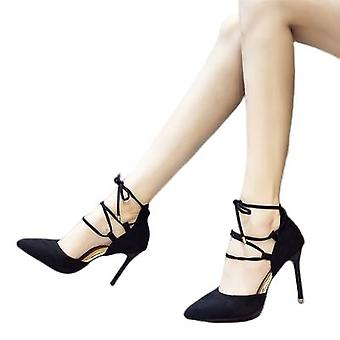 Nouveaux talons pointus Strappy Cross Strappy