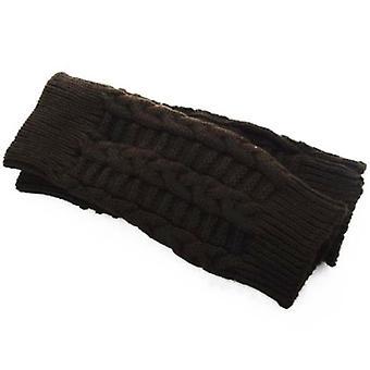 1 Paar Styl strickende Wolle Damen Hand Häkeln Winter Warm Fingerless Armwärmer Handschuhe