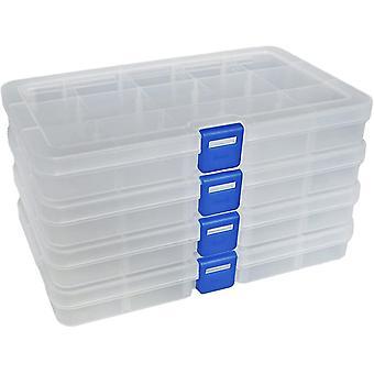 Multifunctionele verstelbare sieraden tool opbergdoos 4-delige set