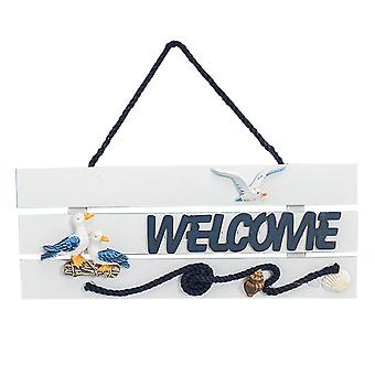 Welcome Card, Marine Decorations, Listing, Wooden Welcome Card,rudder