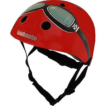 Kiddimoto capacete - óculos vermelhos