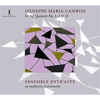 Cambini / Ensemble Entr'Acte - String Quintets No. 1 4 & 23 [CD] USA import