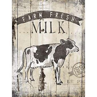 Bauernhof Frischmilch Poster Print von OnRei