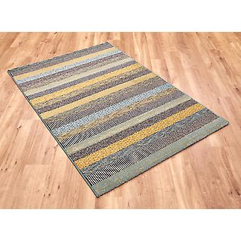 Woodstock 32743-5342 Shades of green, grey and blue Rectangle Rugs Modern Rugs
