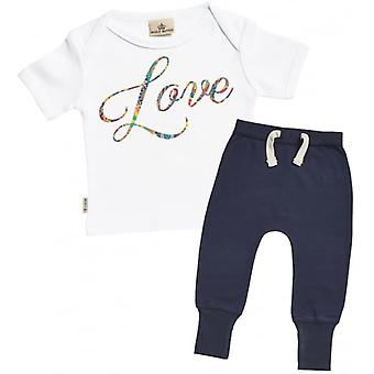 Verwend rotte Love T-Shirt & Marine Joggers Outfit Set