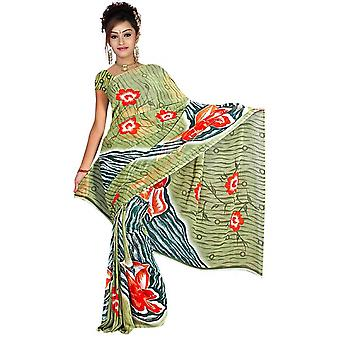 Bijli Georgette Printed Casual Saree Sari Bellydance fabric