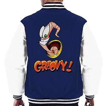 Earthworm Jim Groovy Men's Varsity Jacket