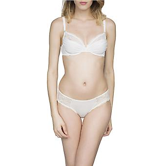 Maison LeJaby 8763-801 Women's Crystal Lily White With Lace Panty Bikini Brief Knickers