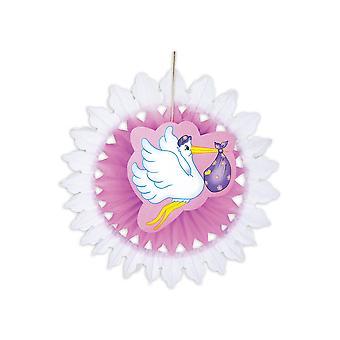 Partido favorece cigüeña de nacimiento decoración colgante 50cm