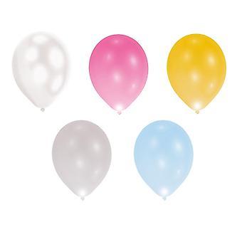 Palloncini di LED delle luci 5 pezzo 28cm Larghezza, palloncini festa decorazione 24 ore autonomia
