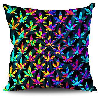 Rasta Psychedelic Weed Linen Cushion Rasta Psychedelic Weed | Wellcoda