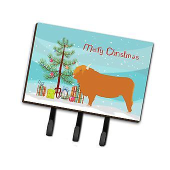 Carolines Treasures  BB9187TH68 Highland Cow Christmas Leash or Key Holder