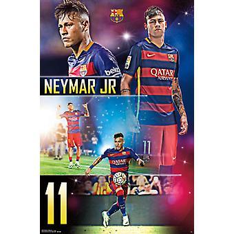 FC Barcelona - Neymar Jr 15 Poster Print