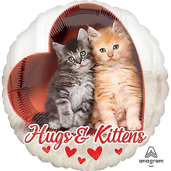 Anagram 18 Inch Avanti Hugs & Kittens Circle Foil Balloon