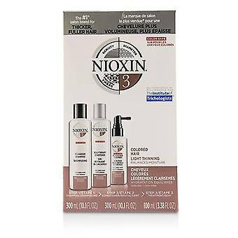Nioxin 3d Care System Kit 3 - For Colored Hair Light Thinning Balanced Moisture - 3pcs