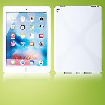 Schutzhülle Silikon X-Line Serie Weiß Hülle für New Apple iPad 9.7 2017 Tasche
