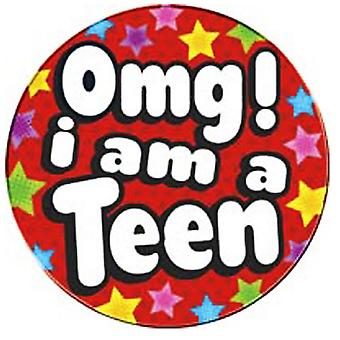 Express Factory OMG I Am a Teen Giant Birthday Badge