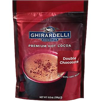 Ghirardelli Double Chocolate Premium Hot Cocoa Mix 2 Bag Pack