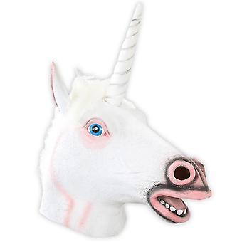 Mask Unicorn fehér teljes maszk Unicorn karnevál