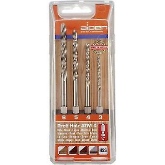 Drewna wiertła zestaw 4-częściowy Alpen 603002100 1/4 (6,3 mm) 1 zestaw