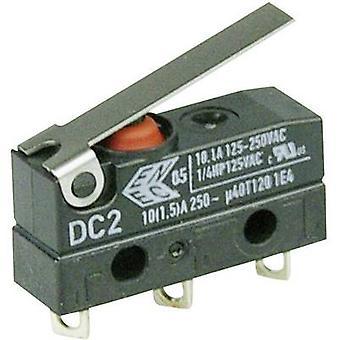 ZF Microswitch DC2C-A1LB 250 V AC 10 A 1 x On/(On) IP67 momentary 1 pc(s)