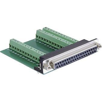 Delock 65319 D-SUB behållare 180 ° antal stift: 37, 39 1 dator