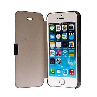 Flip kansi holkki tapauksessa puhelimen kuori Bookstyle Apple iPhone 5 / 5 s / SE Grau