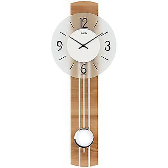 Se vegg klokke kvarts med pendelen tre bakveggen kjernen bøk okleivayutsya mineralglass