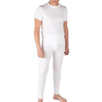 2 pack Mens vinter underställ termisk kortärmad T Shirt Vest vinter underkläder