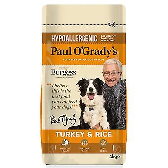 بول O'Grady تركيا هيبوالرجينيك والأرز 2 كغ الكلب المواد الغذائية الجافة