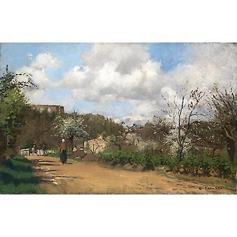 Spring in Louveciennes,Camille Pissarro,60x40cm