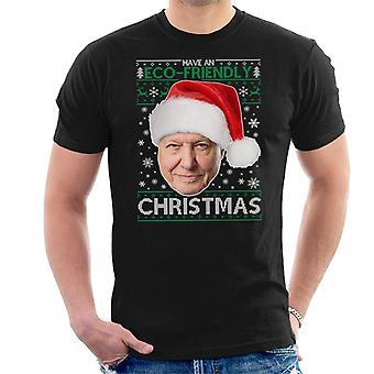 David Attenborough har en miljövänlig jul sticka mäns T-Shirt