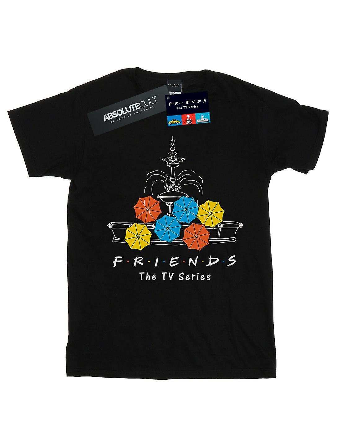 Friends Girls Fountain And Umbrellas T-Shirt