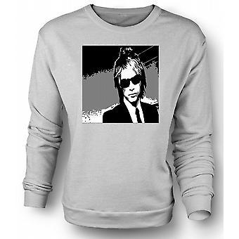 Womens Sweatshirt Bon Jovi - BW rockeband