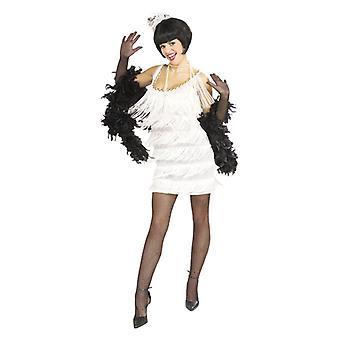Broadway tyttö yllään valkoinen mekko - Lifesize pahvi automaattikatkaisin / seisoja