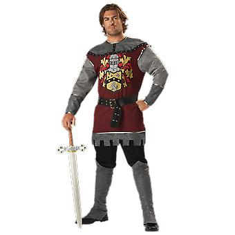 Mens Noble Knight Medieval Warrior History Fancy Dress Costume