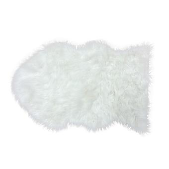 Country Club Faux Fur Rug, White