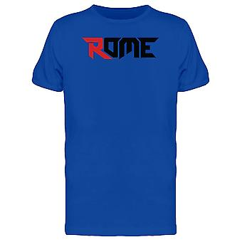 Red Letter Rome City Italy Tee Men's -Image by Shutterstock