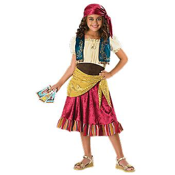 Girls Age 6 - 13 Years Gypsy Girl Fortune Teller Circus Carnival Fancy Dress Costume