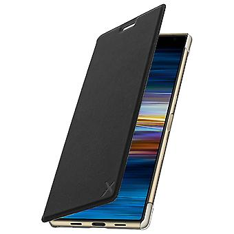 Muvit Sony Xperia 10 Plus Folio Flip Wallet Made for Xperia Case - Black